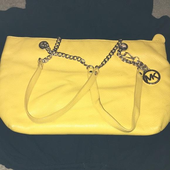 cdb6a58d85e1 Michael Kors sunshine yellow genuine leather purse.  M_5a3f2a5c9a9455f9ad06c2c2